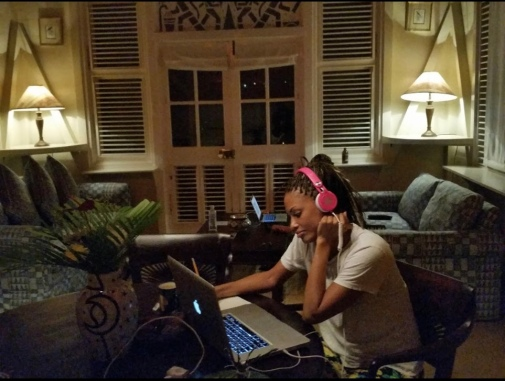Writing Music in a room Bob Marley once stayed in.