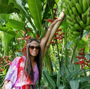 Man! these are some HUGE bananas!