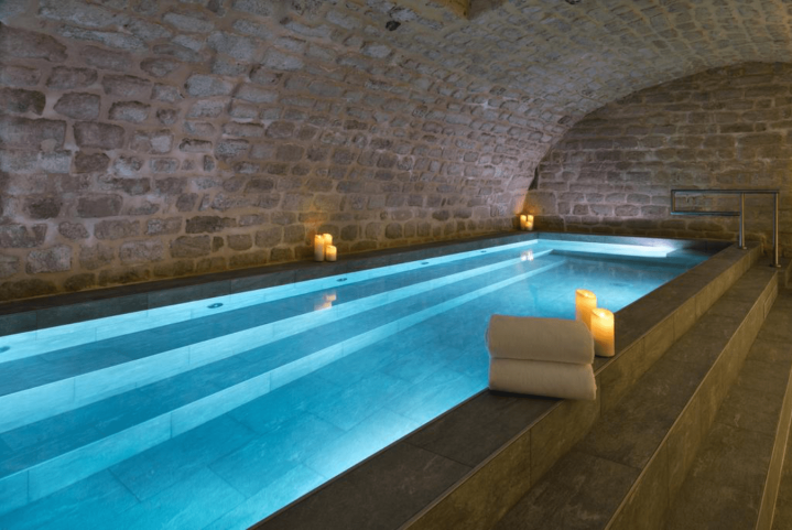 The indoor cave pool